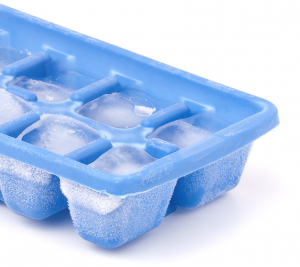 full ice cube tray